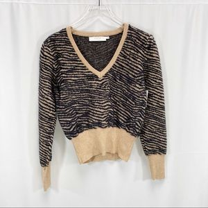 Astr the label tiger stripe sweater
